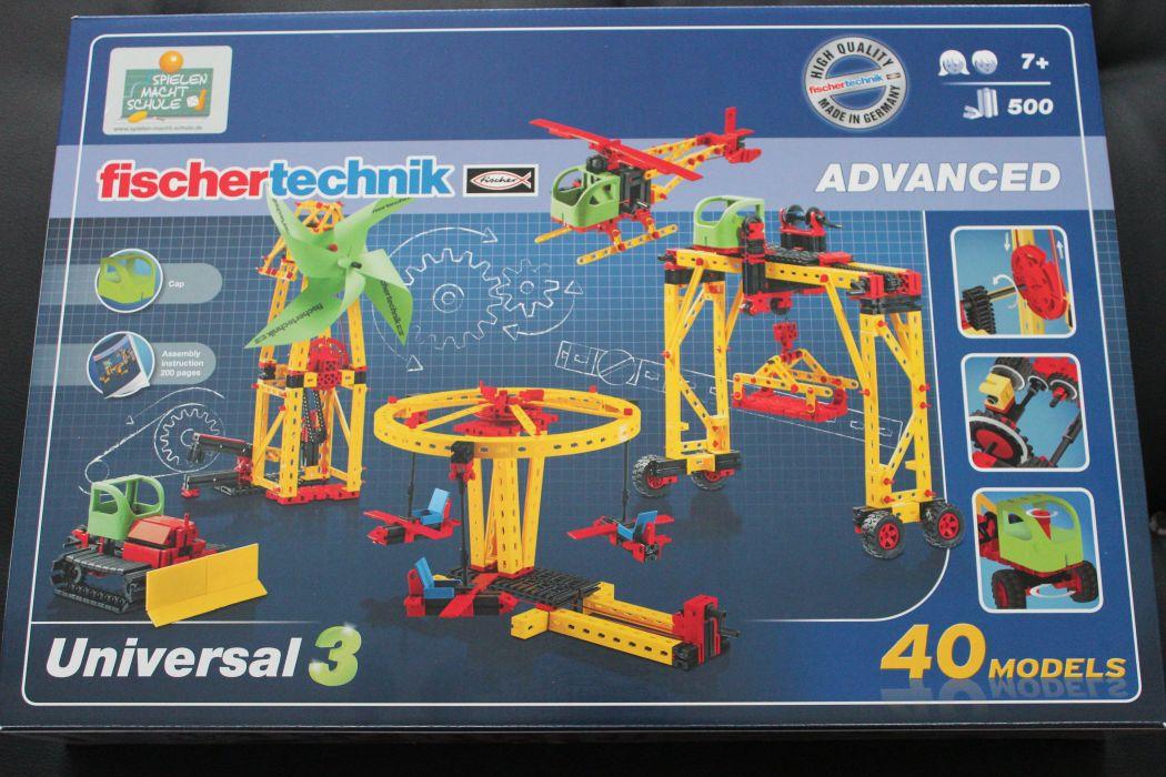 Fischertechnik Advanced Universal 3 Einsteigerbaukasten Baukästen & Konstruktion Motor Set XS